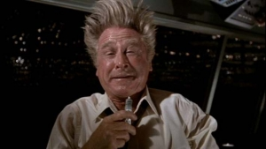 Lloyd Bridges as drug addled McCroskey in 'Flying High'.