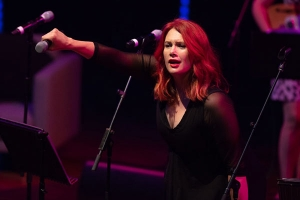 Clare Bowditch co-hosted the 'Songs That Made Me' concert at QPAC (Brisbane) 8 April, 2018.