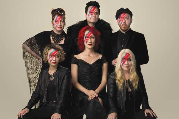 The cast of 'The Rise And Fall Of Ziggy Stardust'